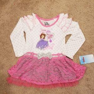 Sofia the First dress size 4t.